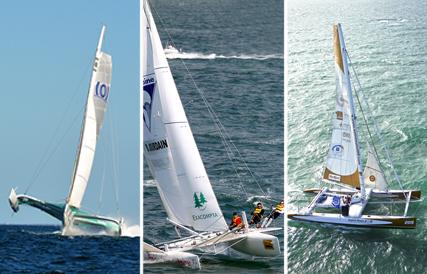 La flotte Sensation Océan : trimaran ORMA, maxi-catamaran et catamarans COD 25