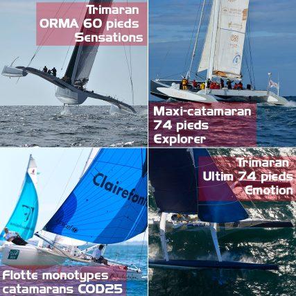 Flotte des bateaux de course Sensation Océan