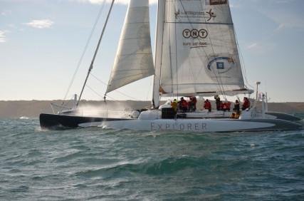 Maxi-catamaran de course Explorer 74 pieds