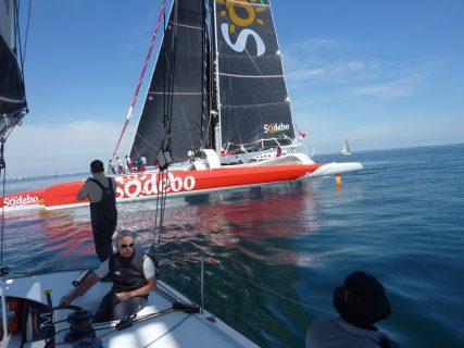 Tour de Belle-Ile 2013. Un tribord avec Sodebo !