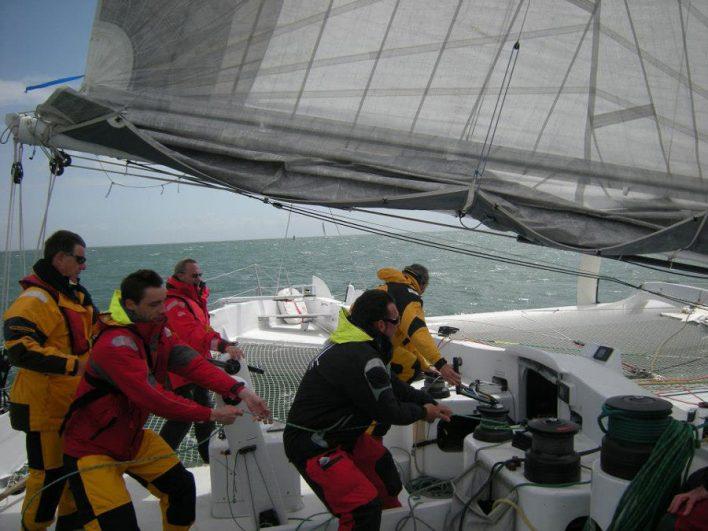 A bord du trimaran ORMA 60 pieds sensation Océan