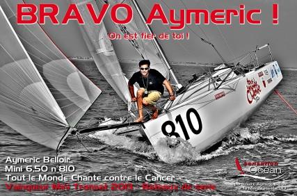 Aymeric Belloir - Vainqueur Mini Transat 2013, bateaux de série