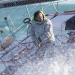 Alain Gautier à bord de GENERALI pour la solitaire du Figaro 2014