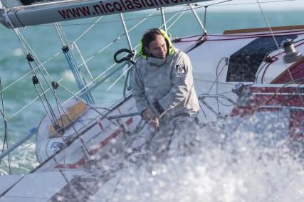 Alain Gautier à bord de GENERALI pour la solitaire du Figaro 2014 - © Jean-Marie Liot / Generali