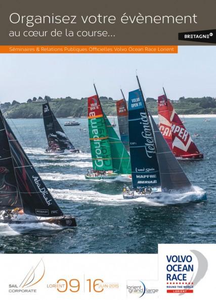 Couverture catalogue offres RP Volvo Ocean Race Lorient 2015