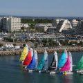 Une flotte de 8 catamarans idéale pour régate corpo, team-building ou entraînement des pros