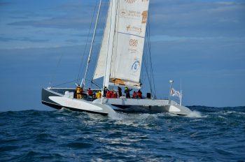 Maxi-catamaran de course Explorer