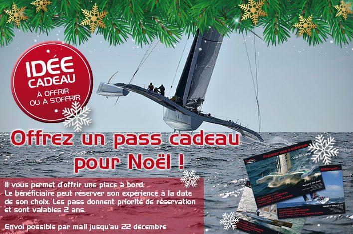 Offrez un pass cadeau à Noël pour une navigation à bord d'un voilier de course au large