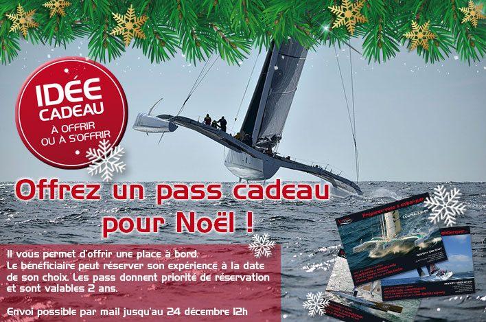 Offrir un pass cadeau de navigation sur un voilier de course au large pour Noël